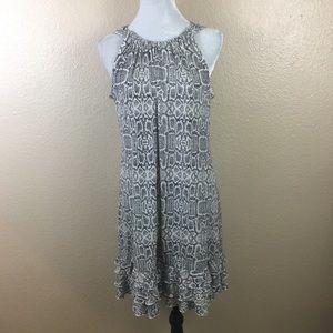 MSK snake print sleeveless dress sz L